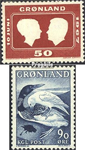 Dänemark - Grönland 67,68 (kompl.Ausg.) Jahrgang 1967 komplett 1967 Hochzeit, Sagen (Briefmarken für Sammler)