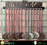 Médaille affichage suspension - medal display (NO PAIN NO GAIN WOMAN design)