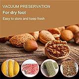 Vakuumiergeräte, LASUAVY Klein Folienschweißgerät für Lebensmittel / Fleisch/ Früchte Bleiben bis zu 8x länger Frisch - Vakuumierer Natürliche Aufbewahrung Vakuum Maschine Inkl. 30 Profi-Folienbeutel - 7