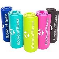 Esterilla para fitness »Jivan« / EXTRA gruesa y suave (2cm!) , perfecta para pilates, gimnasia y yoga / Medidas: 183 x 61 x 2,0cm / Disponible en diversos colores : negro