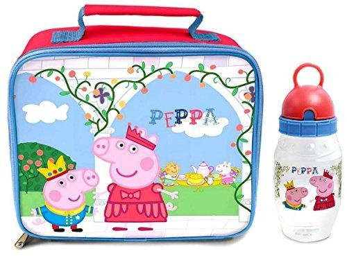 Peppa Pig 'Once Upon a Time' Lunch Bag/Box and Flip 'n' Sip Bottle (352ml) (Peppa Pig Lunch)