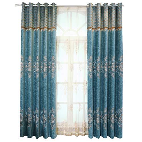 YANQ Wohnzimmer Vorhänge Fertige Einfache Moderne Schattierung Stoff Schlafzimmer High-End-Atmosphäre Nordischen Stil Vorhänge Ohne Garn (Farbe : Blau, größe : 350cm*250cm)