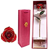 OBLLER 24K Gold Dipped Real Rose, Forever Flower,best gift for girlfriend wife,gift