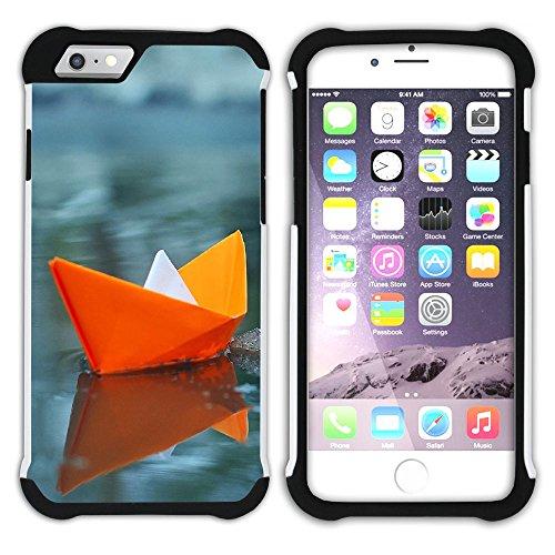 Graphic4You Origami Japanisch Kunst Hart + Weiche Kratzfeste Hülle Case Schale Tasche Schutzhülle für Apple iPhone 6 Plus / 6S Plus Design #2