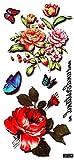 3D fiori e farfalle tatuaggi finti tatuaggi gioielli tatuaggi 3D-054