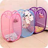 #4: Zomaark Laundry Basket, Bag For Storage Of Clothes, Toys Stander Size (Random Color) (Standard)