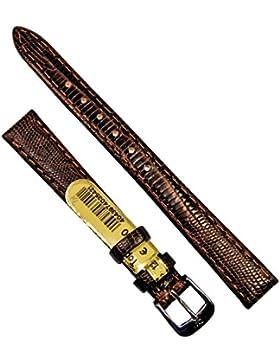 Di-Modell Leder Uhrenarmband Topas 12mm Braun Armband Uhr Band Watch Strap Neu