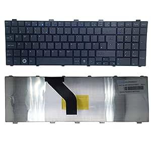 NEW Clavier pour ordinateur portable Fujitsu Siemens Lifebook A512/UK Clavier Noir