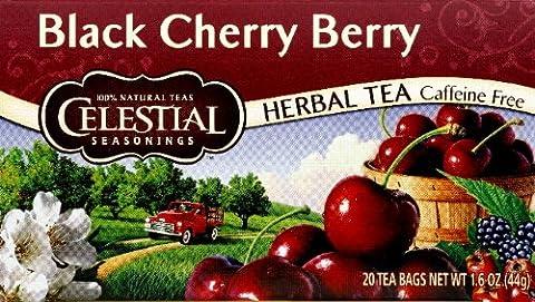 Herbal Tea, Caffeine Free, Black Cherry Berry, 20 Tea Bags,