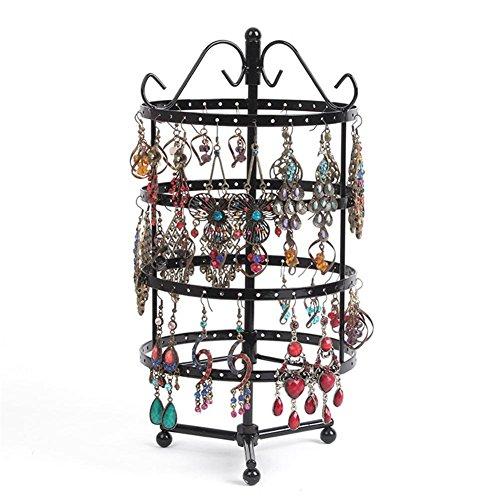 72/128Löcher drehbarer Ohrring Display Halter Rund viereckig Metall Jewelry Show Rack Abnehmbare Ohrring Display Regal? Schmuck ist Nicht Enthalten? 5 -