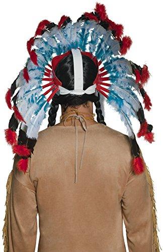 Imagen 1 de Smiffy's - Peluca de indio del oeste para hombre, talla única (196736)