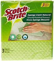 Scotch-Brite Sponge Cloth - Natural, 3 sheets