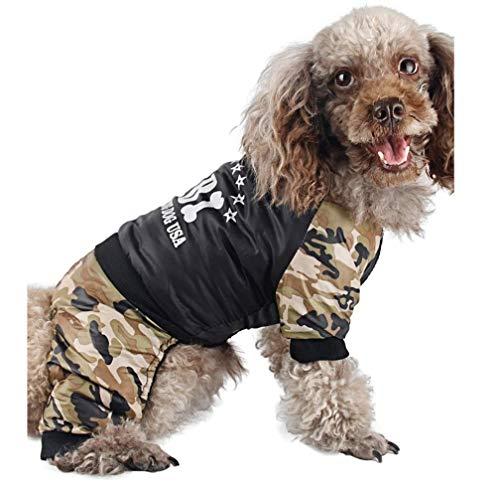 HYLH Winter Pet Clothes for Dogs Cool FBI Medium Dog Warm Fleece Coats Puppy Jacket Jumpsuit Pets Costum (Size : XXL)