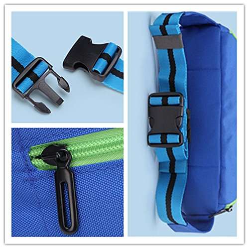 Wewod Sport Marsupio/multifunzionale di tasca sul petto di impermeabile, Gelb, 23cm*8cm*15cm Rot