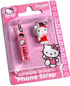Hello Kitty Cute Mobile Phone Charm & Strap Red