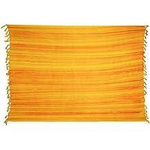 Sarong ca. 170cm x 110cm Mehrfarbig Multicolor Gestreift Handgefertigt inkl.  Sarongschnalle im Fisch Design