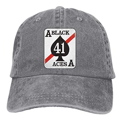 VF-41 'Black Aces' Patch Adjustable Sport Jeans Baseball Golf Cap Hat Unisex Style (Aces Halloween Running)