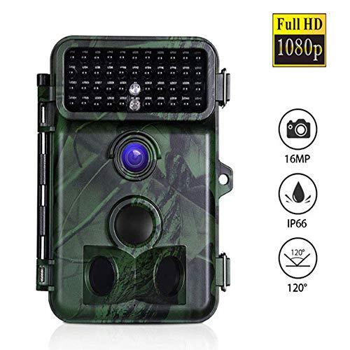 Meteor fire wasserdichte Trail-Jagd-Kamera im Freien, 16MP 1080P HD Infrarot-Nachtsicht-Wildlife-Trailer-Kamera mit 2,4-Zoll-LCD-Display, für Waldfauna-Erhebungen/Bauernhof/Lager