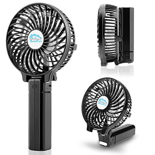 COMLIFE USB Ventilador de Mano Mini Fan Portátil Plegable Ventilador Sobremesa 3...