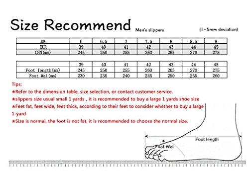 ALUK- Sommer Sandalen - Herren Füße Tragen Tragen Trend Einfache Strand Cool Pantoffeln ( Farbe : Schwarz , größe : 42 ) Schwarz
