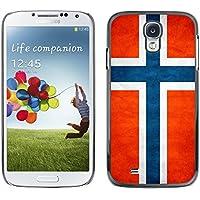 Omega Case Carcasa Funda Case Bandera - Samsung Galaxy S4 IV i9500 (Norway Grunge Flag)