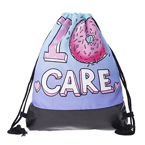 Imagen de festival  bolsa hipster blogger bolsa de deporte emoji emoticon bordar mujer hombre style fullprint all over completo impreso bolsa bag gym bag piel stringbag turn bolsa verano, i pink donut care