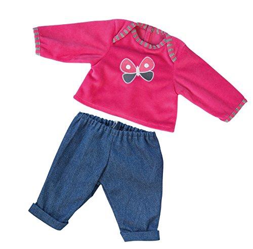 bayer-design-83838-vetement-pour-poupee-habit-poupon-ensemble-t-shirt-pantalon-du-jean-33-38cm