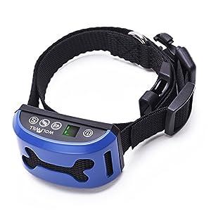 WOLFWILL Collier Anti-aboiement Collier de Dressage Etanche Rechargeable Ecran LCD avec Mode Choc /Vibration /Choc &Vibration