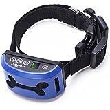 Collier Anti-aboiement WOLFWILL Collier de Dressage Etanche Rechargeable Ecran LCD avec Mode Bip/Vibration /Bip &Vibration-7 Niveaux de Sensibilité Réglable pour Cou de Chien 22-64cm et Poids de 7-68kg(Pas de Choc Electrique