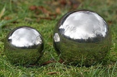 Deko Kugel Galaxy 13 cm Durchmesser aus silber poliertem Edelstahl für Innen und Außen von Boltze bei Du und dein Garten