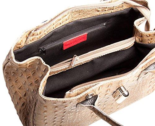 Blau Pelle Blau Leder Damen Italy cm Handtasche Farbe BxHxT 34x25x13 zOrzx