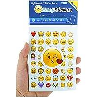 Emoji Autocollants 19 Feuilles avec Emojis Faces Kid Autocollants de l'iPhone Facebook Twitter