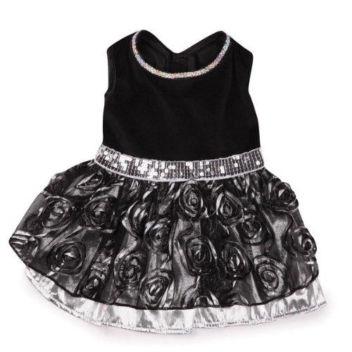 East Side Collection Glam Hundekleid, Polyester, Größe M, 40,6 cm, silberfarben -