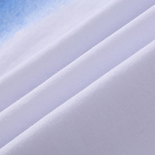 Herren Slim Fit Kurzarm T-Shirt Basic O-Ausschnitt Freizeitsportanzüge Hellblau