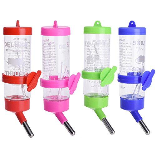 ZAOTE Wasser Feeder Trinkflasche für kleine Haustier Hamster Rennmäuse Mäuse Meerschweinchen Farbe zufällig (Meerschweinchen Essen)