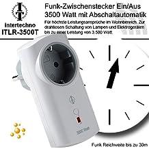 Intertechno Funk-Zwischenstecker Steckdose mit Abschaltautomatik ITLR-3500T