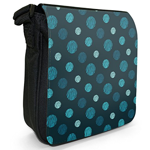 Fancy A Snuggle, Borsa a tracolla donna Punkte Blau auf marineblauem Hintergrund