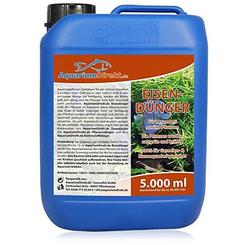 Aquarium-Direkt Eisendünger (GRATIS Lieferung in DE - Versorgt die Pflanzen im Aquarium mit lebensnotwendigen Eisen in hoher 2-wertiger Form - Garantiert auch für Garnelen- und Nanoaquarien), Größe:5 L