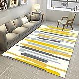 CHAI Wohnzimmer Dekoration Teppich Matten 3D Druck Nordic Einfachen Stil Geometrische Muster Rechteckigen Teppich Schlafzimmer Rutschfeste Teppich Kinder Teppich Teppich Teppiche (Größe : 200x300cm)