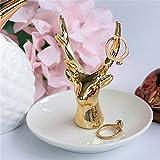 TYLIU Columpio-Oro Joyería collar de joyas de cerámica bandeja de teclado, columpio, manjar blanco de la cabeza de ciervo