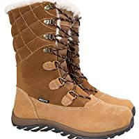 Mountain Warehouse Vostock Womens Snow Boots - Waterproof, Sturdy Grip, Leather, Textile Upper, Thermal, High Traction - Great for Walking in Cold Winter Temperatures