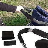 Hrph 2 Piezas del cochecito de bebé del apretón de la cubierta de la resbalón Multi Resistencia Sillas de ruedas antideslizantes Herramientas del protector