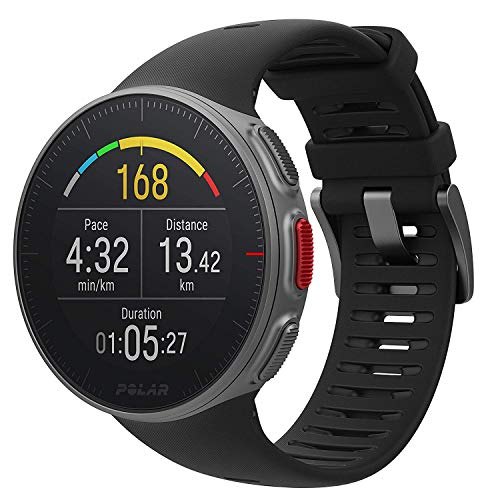 Polar Vantage V -  Reloj multisport con GPS, pulsómetro en la muñeca, barómetro, rutas, notificaciones -  Negro,