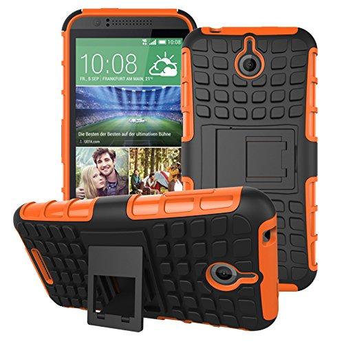 HTC Desire 510 Hülle, SsHhUu Premium Rugged Stoßdämpfung & Staubabweisend Kompletter Schutz Hybrid-Koffer mit Ständer Telefon Kasten für HTC Desire 510 4.7 Zoll (Orange) 510 Htc Telefon-kästen