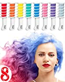 Hair Chalk Comb Temporary Hair Dye Hair Color Brush for Adults Kids