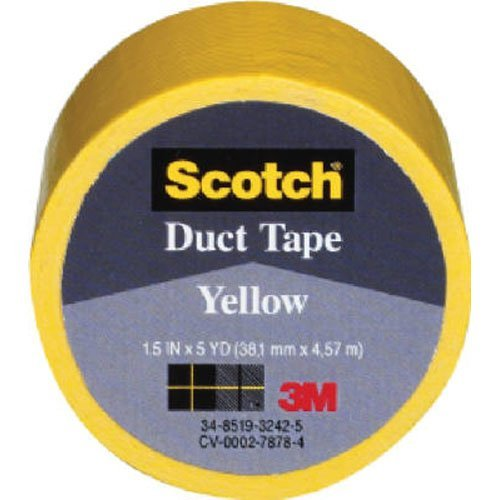 3m 1.5in. X 5 Yards Yellow Scotch Duct Tape 1005-RED-1P - 6er Pack