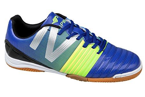 gibra, Scarpe indoor multisport uomo Blu (Blu/Verde fluo)