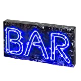 Talking Tables Illum-WDBAR Party Illuminations MDF Bar Licht, Plastik, Blau, 5 x 36 x 18 cm