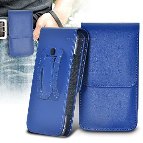 Aventus (Carbone Nero) Apple iPhone 6 / iPhone 6s Custodia Verticale da Cintura in Finta Pelle di Alta Qualità con Clip e Chiusura Magnetica Blu