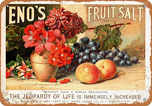Sary buri Metal Poster Sign Eno's Fruit Salt Plaque Wandkunst Garage Club Bar Dekoration -